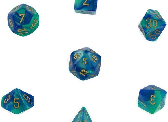 Gemini Blue-Teal/Gold 7 Die Set - 26459