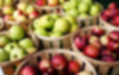 A wide variety of local apples are available in the fall.
