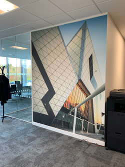 Office space wall wrap
