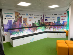 Wall Wrapped Meeting Area