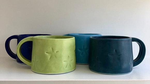 set of 4 starfish mugs - small