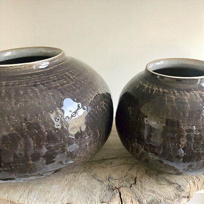 Moon Jars - set of two