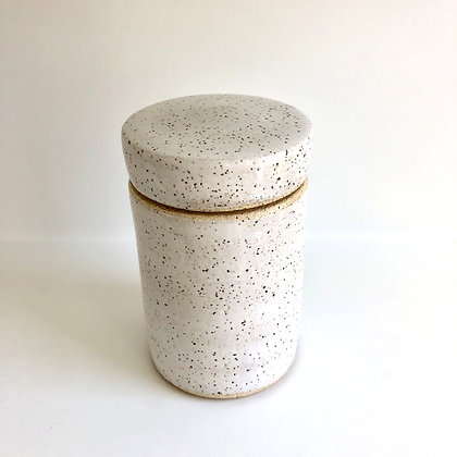 tall lidded jar - medium