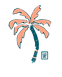 palm tree logo art