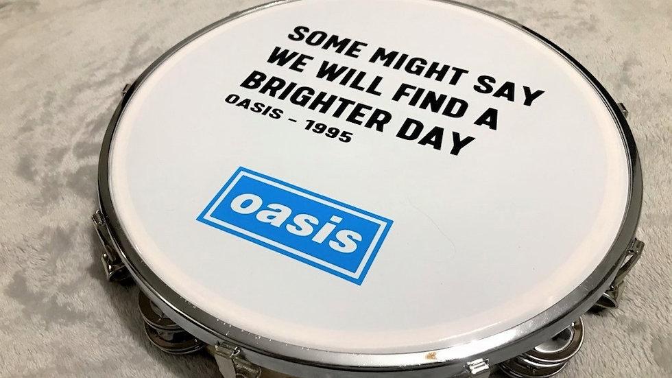 "Oasis 10"" Some Might Say Lyric Tambourine"