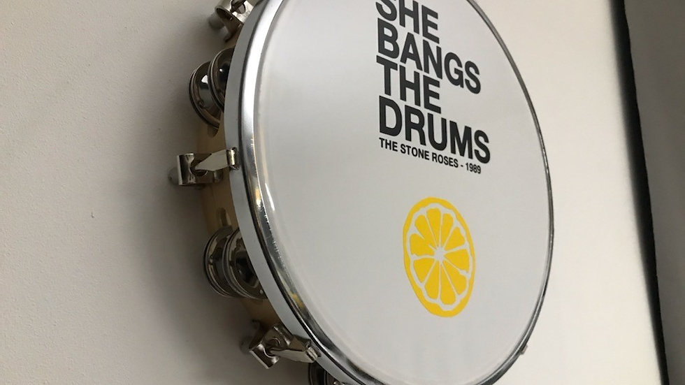 """The Stone Roses  10""""  Lyric Tambourine She Bangs The Drums"""