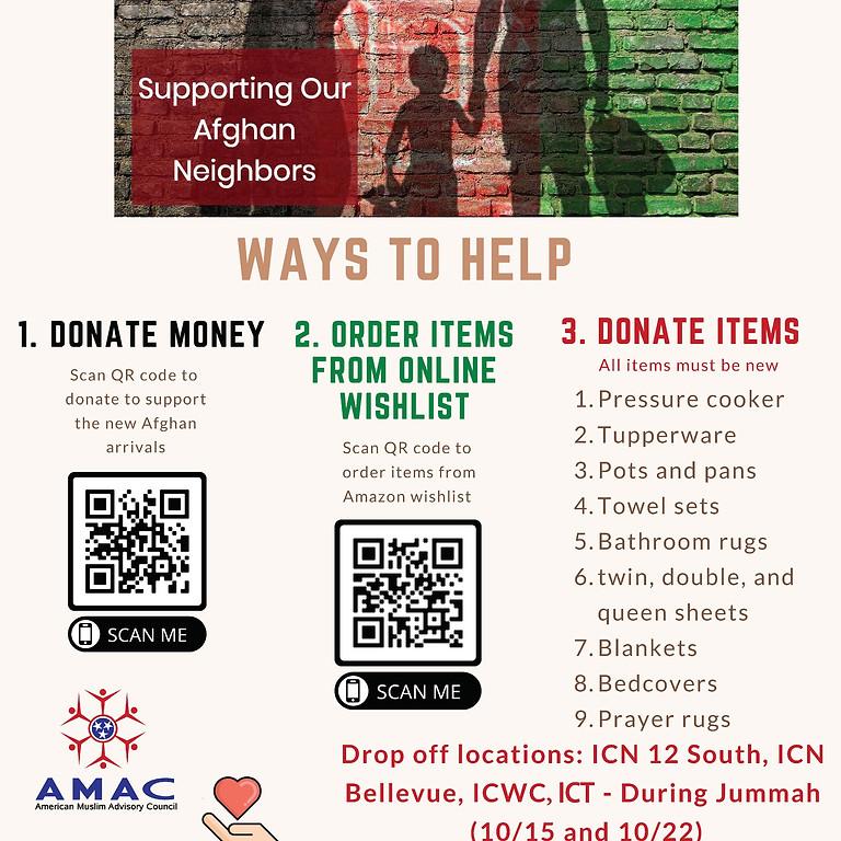 Afghan Donation Drive