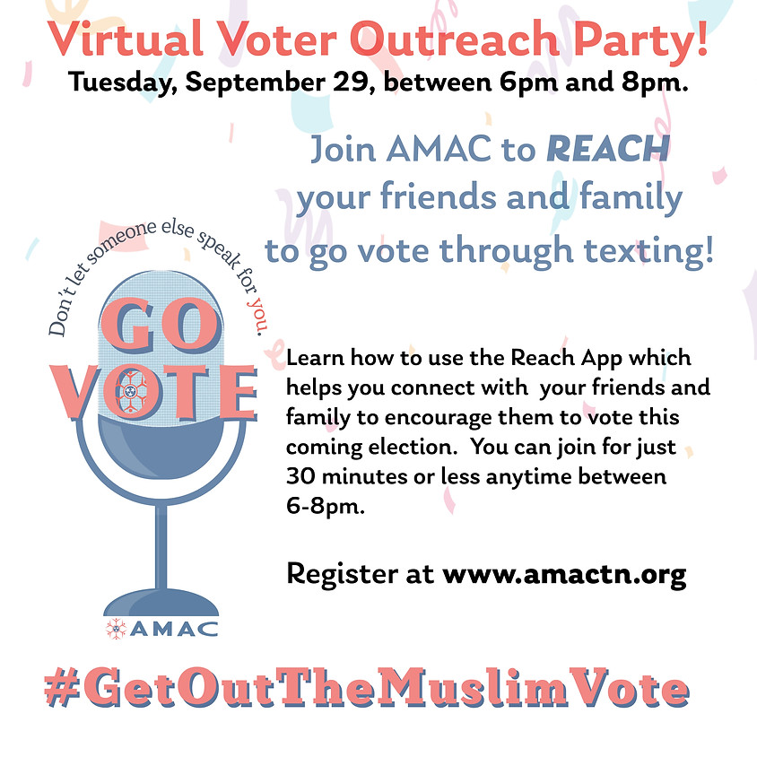 Virtual Voter Outreach Party