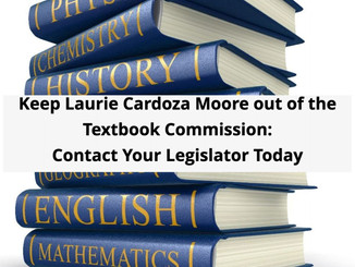 Contact Your Legislator on the Textbook Commission