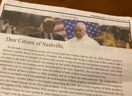 Islamophobic Ad in the Local Newspaper