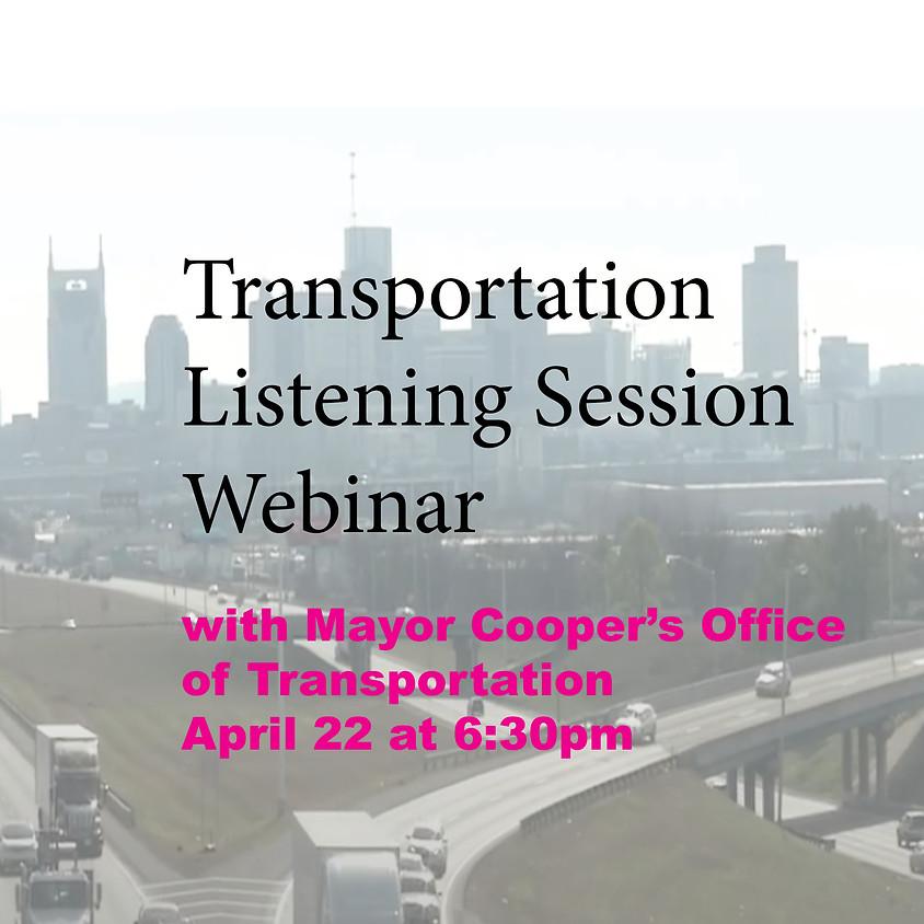 Transportation Listening Session