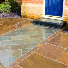 Mixed Stone Patio and Path