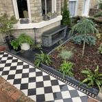 Quarry tile path