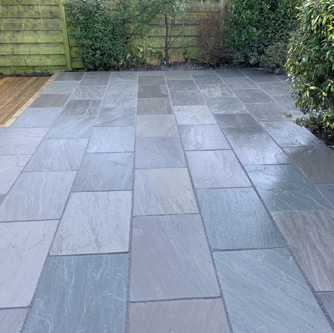 Grey Indian stone patio