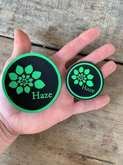 Haze IRON ON morale patch & outdoor sticker set