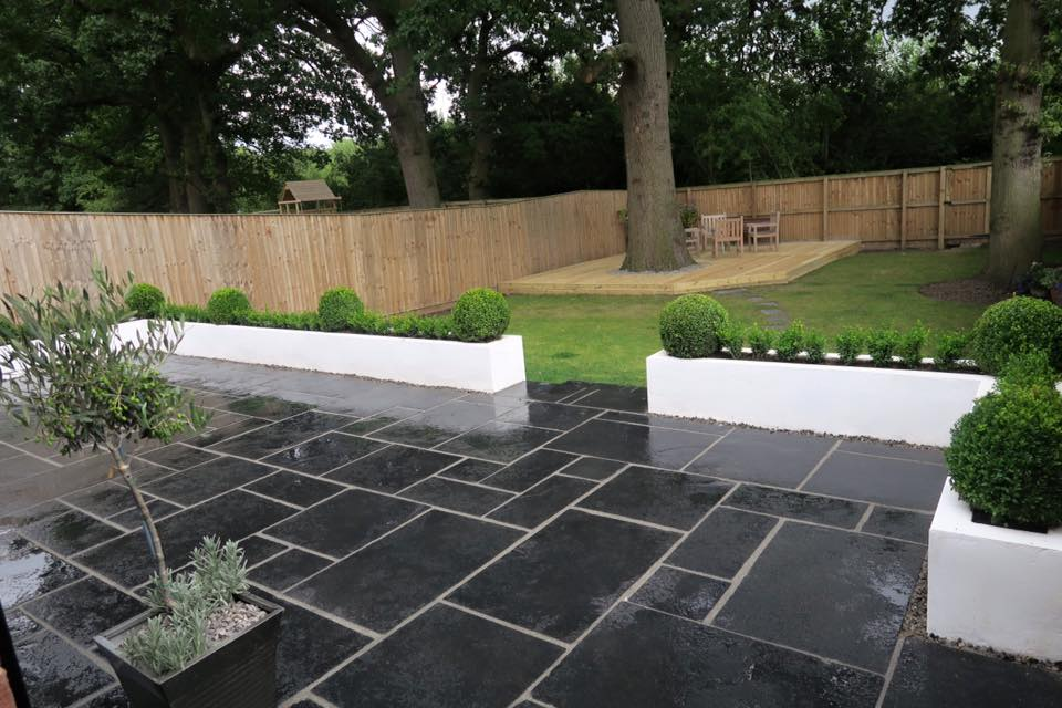Formal Patio and white Walls
