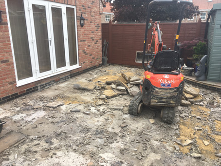 Large Patio & Driveway in York
