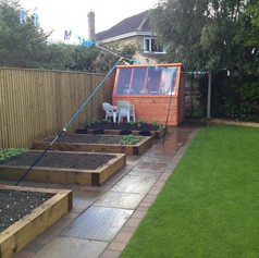 Paths and Raised beds