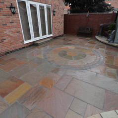 New Patio With Stone Circle