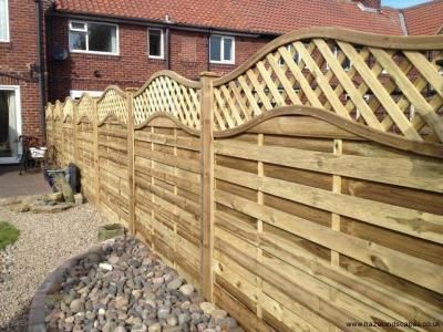Panel Fence In York With Trellis Top