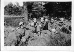 Men of D Company (Photo Courtesy of Geor