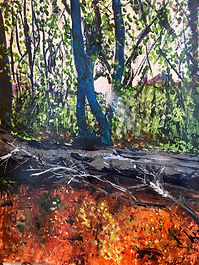 Oaks Park acyrlic £60 - 30x40cm frame 40