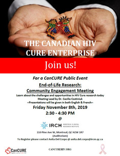 Join us! CanCURE Public Event on November 8th @ IRCM