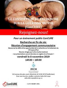 Rejoignez-nous! Événement CanCURE le 8 novembre au IRCM