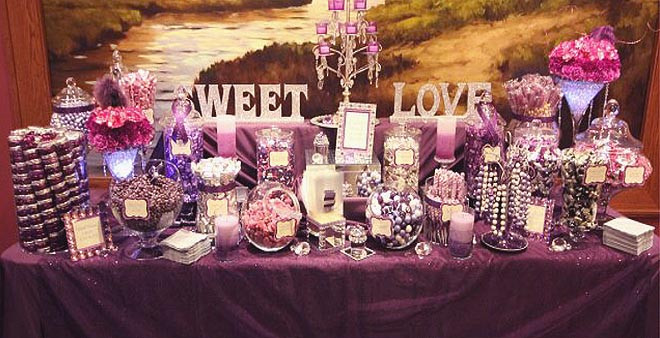 Candy Buffet in Shades of Purple!