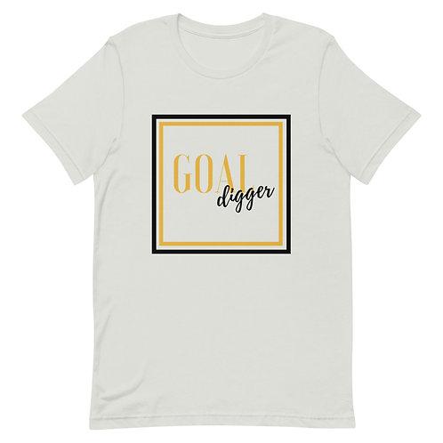 Unisex Premium T-Shirt Goal Digger Square Logo (Gold & Black)