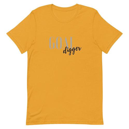 Unisex Premium T-Shirt Goal Digger Logo (Gray & Black)