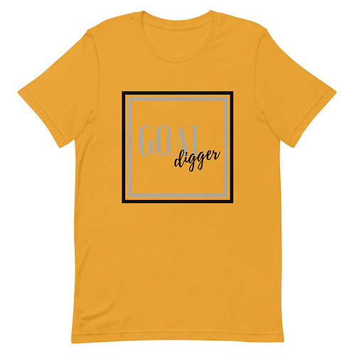 Unisex Premium T-Shirt Goal Digger Square Logo (Black & Gray)
