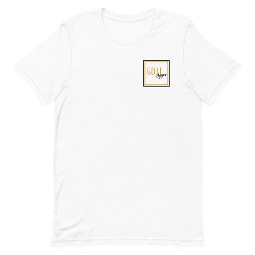 "Unisex Premium T-Shirt Goal Digger ""Pocket"" Logo (Gold & Black)"