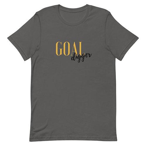 Unisex Premium T-Shirt Goal Digger Logo (Gold & Black)
