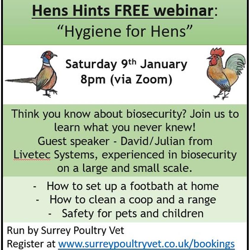 """Hens Hints"" webinar - Hygiene for Hens"