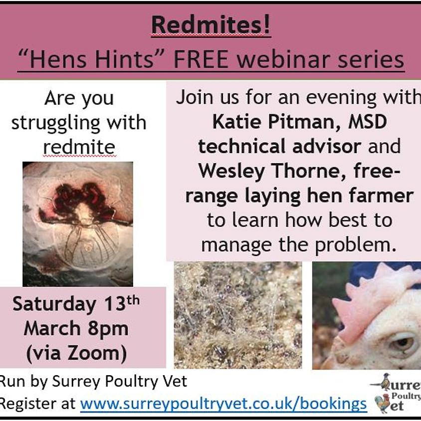 """""""Hens Hints"""" webinar - Redmite"""