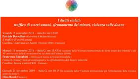 Modena, 15-19-21 novembre 2019, I diritti violati: traffico di esseri umani, sfruttamento dei minori
