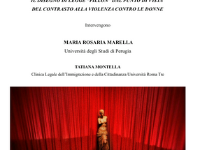 """Roma, 20 novembre 2018. Il disegno di legge """"Pillon"""" dal punto di vista del contrasto alla"""