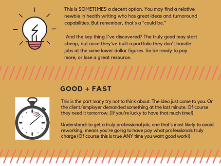 3 Options But Only 1 Good One... ...for Finding a Solid Health Writer