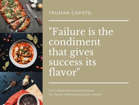 How to Enjoy Failure…