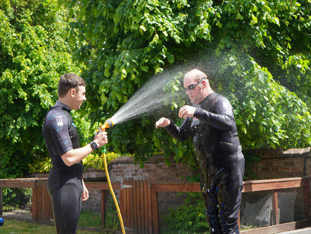 Watch out Toms got the hose pipe!!