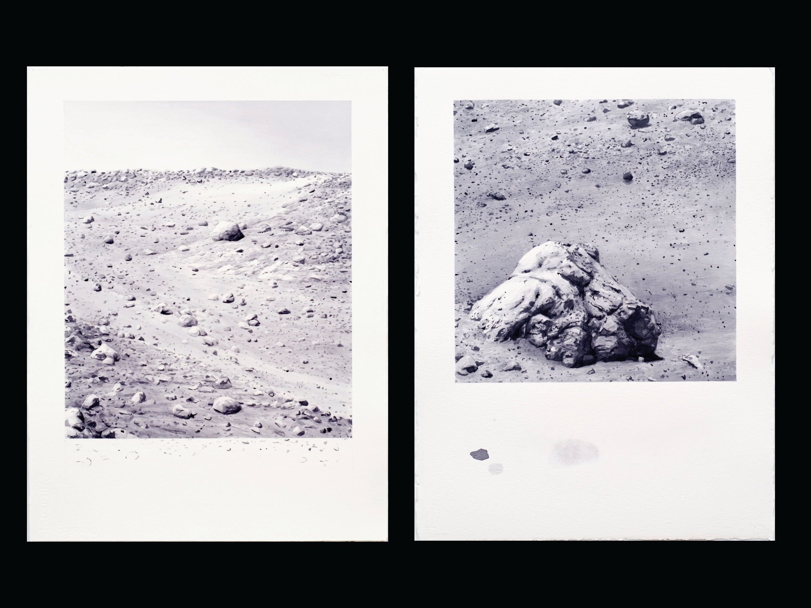 Mars Hillside & Mars Rock #1, 2005