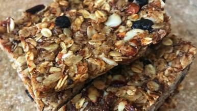 Homemade Fruit + Nut Granola Bars