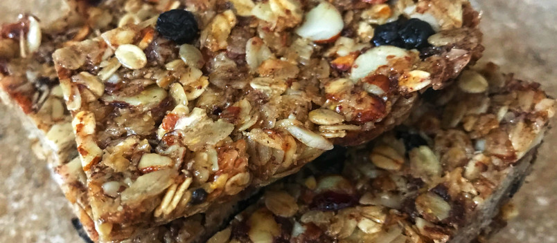 Homemade Fruit + Nut Granola Bars