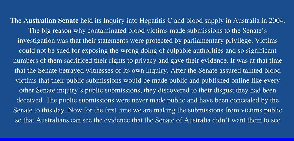 The Australian Senate held its Inquiry i