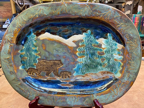 Clay Serving Platter