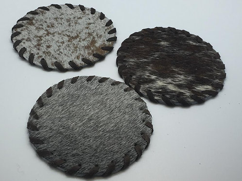 Cow Hide Coasters