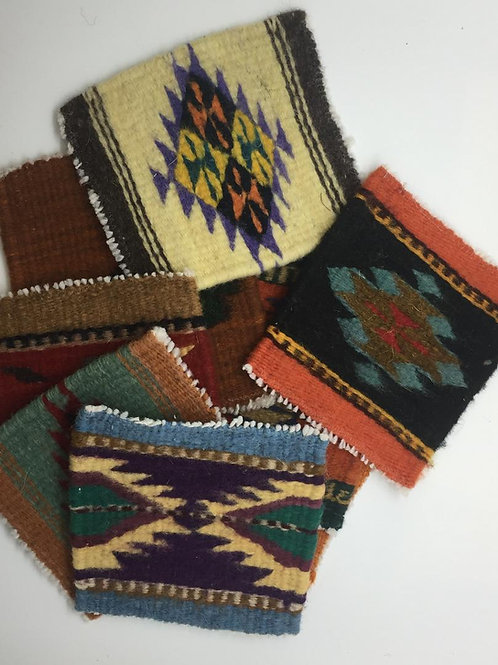 Hand Loomed Coasters - Set of 4