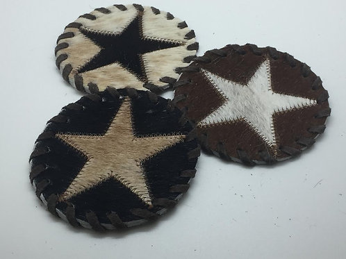 Cow Hide Star Coaster
