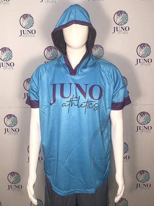 Juno Athletics Teal Short Sleeve Mesh Hoodie